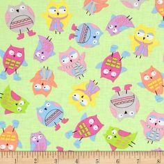 Spring Showers Tossed Owls Green Fabric Windham Fabrics http://www.amazon.com/dp/B00ICSE670/ref=cm_sw_r_pi_dp_I8vAub17PCTX4