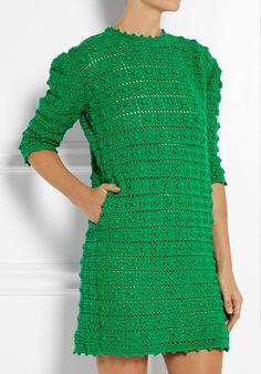 By Mariza Crochet Designer: Vestidos Crochet Beau Crochet, Pull Crochet, Mode Crochet, Knit Crochet, Crochet Blouse, Crochet Tops, Crochet Skirts, Crochet Clothes, Crochet Stitches