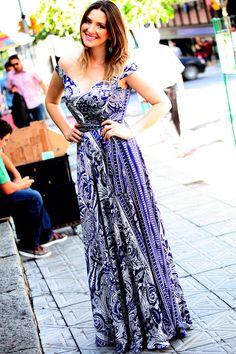 News na Tess Dress: vestidos de festa / long. dress  www.danigarlet.com.br
