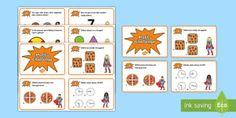 Year 1 Maths Challenge Cards - australia, maths, mathematics, challenge cards, challenge, cards, year 1,