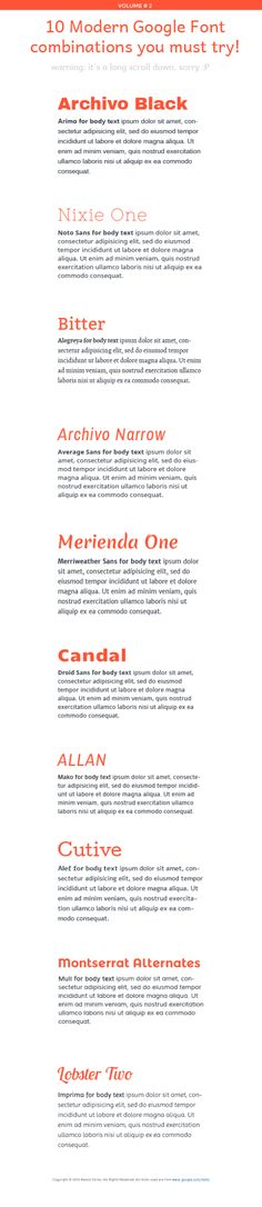 10 Great Modern Google Font Combinations