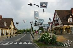 Merville-Franceville-Plage City Hall with D-Day Parachute Images in Normandy, France