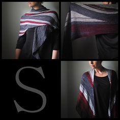 My newest collection of shawls, S, is available on Ravelry and the nbk etsy shop, www.northboundknitting.etsy.com