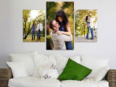 Send in your couple or family pictures to photocanvasinc.com so those small, flat, meaningful photos can become the size they should be.