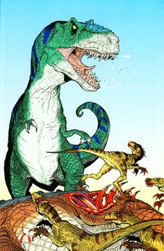 Age of Reptiles: Artist - Ricardo Delgado. This was one of my favorite comics ever - books contained zero dialogue. All story and emotion was expressed entirely through the artwork.