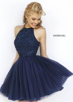 Sherri Hill 32335 Jeweled A-Line Cocktail Dress