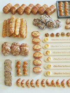 miniature  Bread set exhibition ~ handmade