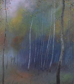 NICHOLAS HELY HUTCHINSON  Passing through the Silver Birch Wood Oil on canvas 30 x 26 ins