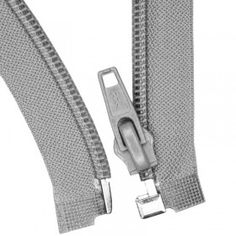 Teilbare Reißverschluss Grau 35CM Nylon