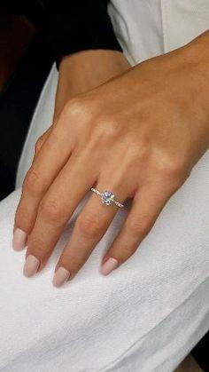Cute Engagement Rings, Halo Diamond Engagement Ring, Wedding Engagement, Dresses For Engagement, Engagement Rings White Gold, Inexpensive Engagement Rings, Engagement Nails, 1 Carat Diamond Ring, Simple Diamond Ring