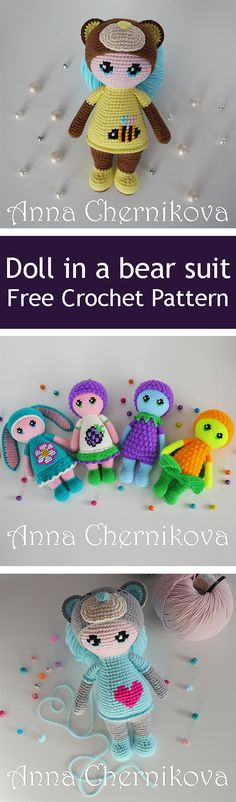 PDF Doll in a bear suit. FREE amigurumi crochet pattern. Бесплатный мастер-класс, схема и описание для вязания игрушки амигуруми крючком. Вяжем игрушки своими руками! Кукла, куколка, doll in a teddy bear costume. #амигуруми #amigurumi #amigurumidoll #amigurumipattern #freepattern #freecrochetpatterns #crochetpattern #crochetdoll #crochettutorial #patternsforcrochet #вязание #вязаниекрючком #handmadedoll #рукоделие #ручнаяработа #pattern #tutorial #häkeln #amigurumis #doll