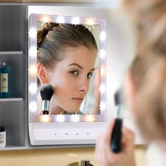 TFCFL Lighted Makeup Mirror Smart Touch Large Screen Beauty Mirror Multiple Illumination Settings Cosmetic Mirror With 18 LED Lights, Wall Mount LED Makeup Mirror. 3 MODE LIGHT SETTING - This Lighted Makeup Mirror Comes with 3 Different Illumination Settings. And Each Setting is Designed with Color-corrected Lighting That Will Match Daytime, Evening, Home or Office Environments. ULTRA BRIGHT AND EYES PROTECTION - Premium Eye-Care LED Light, Gives Our Light and Ensures Better Eye…