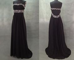 black prom dress, long black prom dress, backless prom dress, party dress, RE034