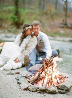 fall wedding #bonfire