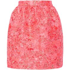 Markus Lupfer Vivian jacquard mini skirt (£124) ❤ liked on Polyvore featuring skirts, mini skirts, юбки, pink, mini skirt, zipper skirt, pink skirt, jacquard skirt and short mini skirts