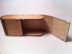 Another example of the living hinges used to make wood flexible