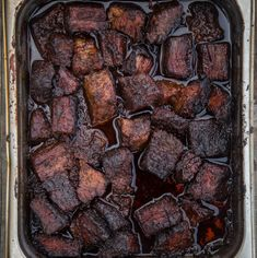 Recipe and video for Smoked Pork Belly Burnt Ends. Inspired by beef burnt ends, this pork version is super tender, full of flavor and so easy to make. Smoked Beef Short Ribs, Smoked Prime Rib, Smoked Brisket, Smoked Ham, Rib Recipes, Smoker Recipes, Steak Recipes, Brisket Burnt Ends, Pineapple Coleslaw