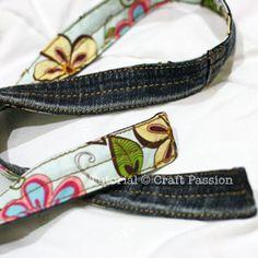 Sewing | Reversible Denim Belt | Free Pattern & Tutorial at CraftPassion.com
