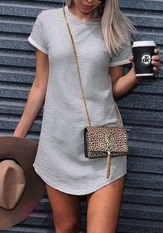 90c00bab3c What you ll love most about this cute grey cuffed sleeves tunic is that you  can wear it as a tunic or a long top
