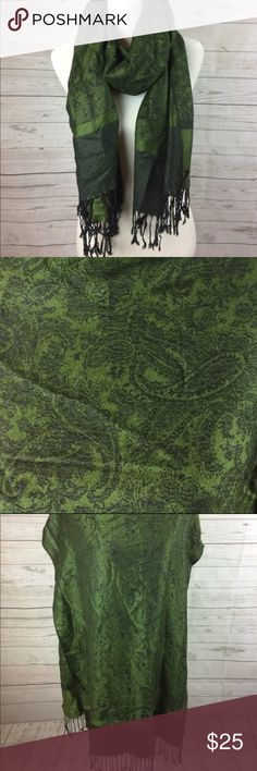 Beautiful Green Paisley Print Pashmina Scarf Excellent condition. No stains or snags. Accessories Scarves & Wraps