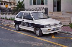 Police Vehicles, Police Cars, Kia Pride, Ford Festiva, Kia Motors, Malta, Paper Crafts, Van, Bike