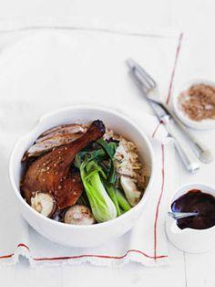 Chinese roast duck with ginger and shiitake rice #australia #hellofresh #eatfresh Eat fresh and healty in Australia http://www.kangadiscounts.com/coupons/hello-fresh-15-aud-off-2/