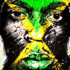 "A salut to the great Usain Bolt called ""he's Faas"" puma Caribbean Culture, Usain Bolt, Living Legends, Lightning Bolt, Olympic Games, Olympics, Photo Art, Owl, Bird"