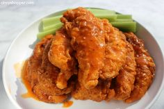 These Buffalo Chicken Strips are loaded with spicy Buffalo flavors. These Buffalo strips are perfect as an appetizer, on a sandwich, in a wrap or in a salad Buffalo Chicken Strips, Buffalo Ranch Chicken, Egg Recipes, Cooking Recipes, Yummy Recipes, Ranch Dressing Chicken, Chicken Strip Recipes, Dinner Salads, Kid Friendly Meals