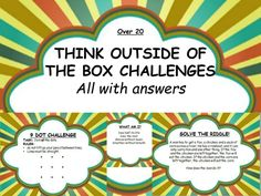 Over 20 think outside of the box challenges