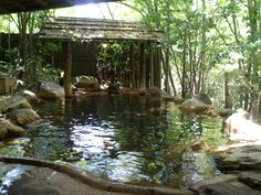 Kurokawa Onsen - outdoor hot spring bath