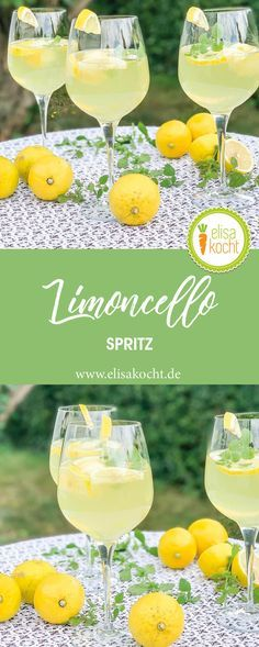 Aperol Drinks, Limoncello Cocktails, Cocktail Drinks, Alcoholic Drinks, Beverages, Party Buffet, Fries In The Oven, Alcohol Recipes, Party Drinks