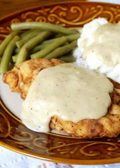 Chicken Fried Chicken with Pan Gravy ~ COMFORT FOOD! ☆This was really good, except for the gravy. Mine came out brown for some reason. Would make the chicken again.☆