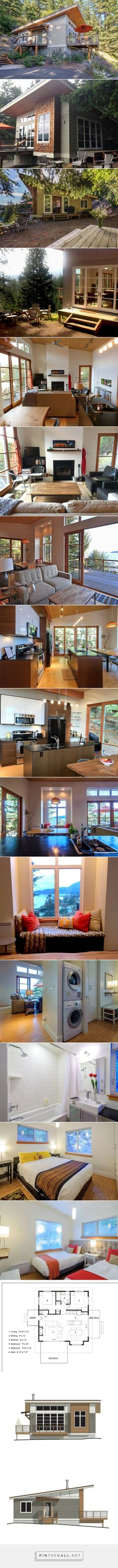 Small Contemporary Cabin on Orcas Island... - a grouped images picture - Pin Them All This is an 804 sq. ft. contemporary cabin in Eastsound, WA that's available to rent on Airbnb. It was designed by Merrill Leonard of Twistoff Homes. 804 Sq. Ft. Contemporary Cabin (Plans Available!)