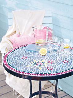 """Képtalálat a következőre: """"kovácsoltvas mozaik asztal"""""""