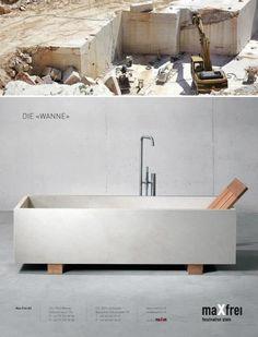Concrete Bath tub / betonbadewanne Www.dade-design.com