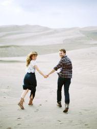 Colorado Sand Dunes Engagement - Style Me Pretty
