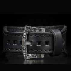 WILLIAM HENRY Horween 'Dublin' leather cuff