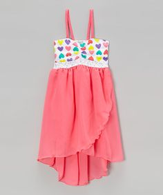 http://www.zulily.com/invite/vhanson979 This Pink Heart Tulip Dress - Toddler & Girls is perfect! #zulilyfinds
