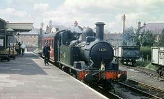BR (GWR)  Collett 1400 class  0-4-2T Buses And Trains, Old Trains, Diesel Locomotive, Steam Locomotive, Steam Railway, Train Times, Train Art, British Rail, Great Western