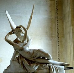 "Antonio Canova, ""Psyche revived by the kiss of Love"". Musée du Louvre. Marble, 1793."