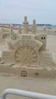 Hampton Beach, NH.  Sand Sculpting 2015