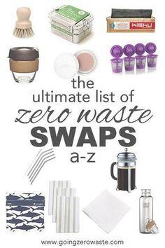 The ultimate list of #zerowaste swaps from A-Z from www.goingzerowaste.com