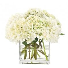 White Hydrangeas Wedding Centerpiece in addition to bridal bouquets which will go in vases once at the reception