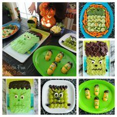 Kitchen Fun With My 3 Sons: 11 Frankenstein Fun Food Ideas!
