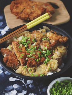 Katsu Don Recipe, Katsu Recipes, Pork Recipes, Asian Recipes, Japanese Recipes, Japanese Food, Pork Cutlet Bowl, Pork Cutlets, Recipes