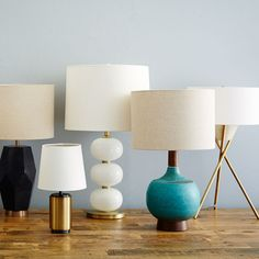 Show off your style with a modern task or table lamp — on side tables, desks or nightstands.