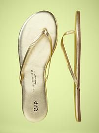 the search for gold flip flops continues...  gold flip flops