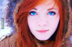 Red hair + blue eyes = extremely hot