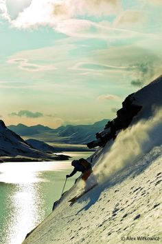 Aurelien Ducroz skiing in Svalbard, Norway