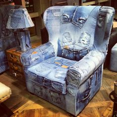 Wild creation at PTI airport. Jeans use as upholstery!